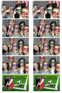 soccer banquet photo booth
